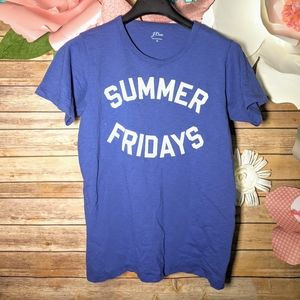 J Crew Summer Fridays T Shirt Women M Blue